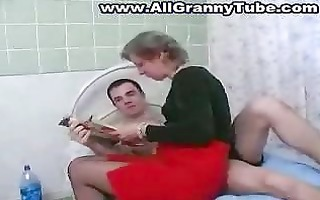 granny and grandson fucking
