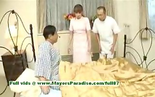 myuu hasegawahot oriental honey giving a oral-sex