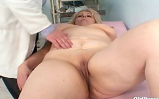 older miriam fetish gyno exam speculum exam