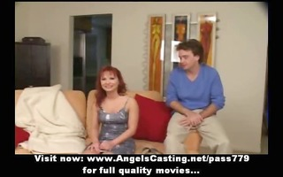 redhead mother i as bride does oral sex for large