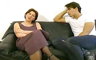 excited mama getting stiff ramrod in her cum-hole