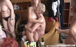hardcore older home orgy