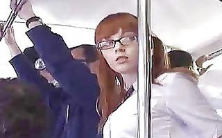 japanese schoolgirl finger drilled on bus