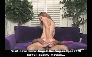 nasty redhead drilled hard from behind and