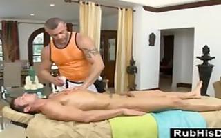 lustful homo bear sucks cock after homo massage
