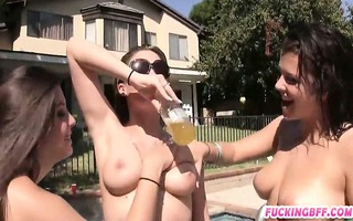marvelous besties pool party and lesbo sex
