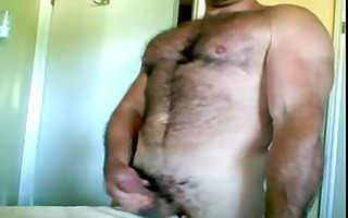 muscular furball wank &; spooge