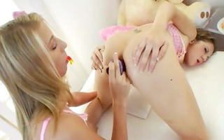lovely schoolgirls unfathomable dildoing anuses