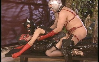 this little leather cunt cat acquires pounded by