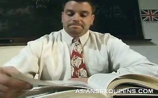 cute oriental receives naughty