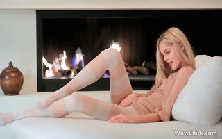 hawt blond babe receives in nature for the web