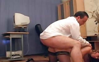 gang group sex at the office with a secretary