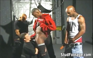 sexy black guys destroys white wazoo