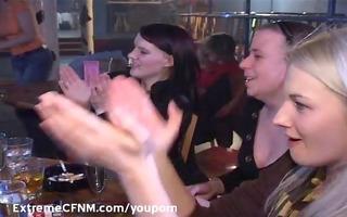 marvelous coed engulf a female strippers jock