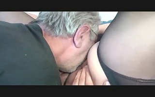 old bbw plays with old stud