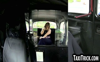 breasty aged blond sucks her taxi drivers knob