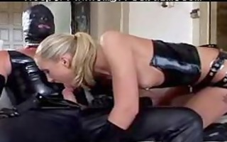 leather blond sadomasochism slavery villein