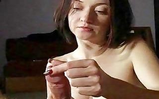 milf wife gives astonishing handjobs