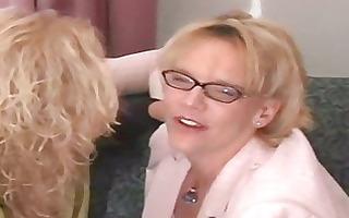 sexy curvy blond grannies threesome