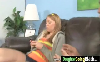 see my daughter getting a dark monster pounder 1