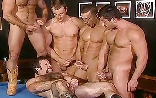 hard group fuckfest with excited homo hunks