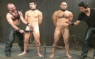 homosexual boyz got tortured in the dungeon